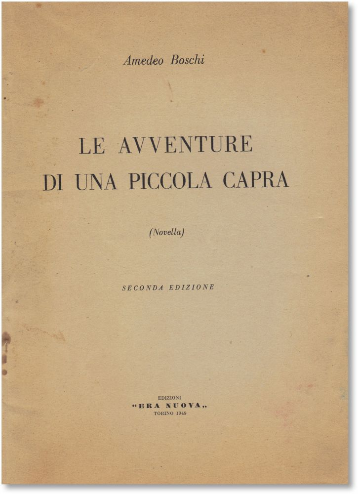 Le Avventure di Una Piccola Capra (Novella). ANARCHISM, FICTION, Amedeo BOSCHI.
