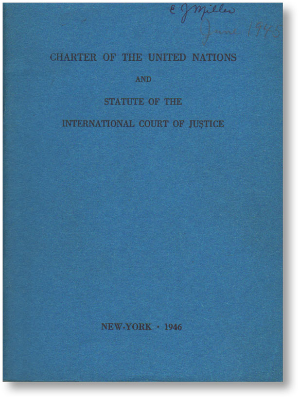 Charter of the United Nations and Statute of Court of Justice