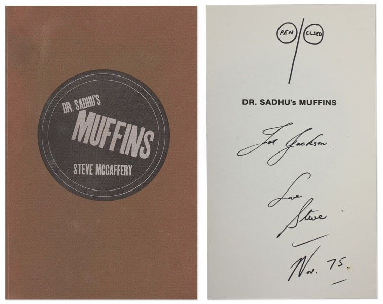 Dr. Sadhu's Muffins. CONCRETE POETRY, Steve McCAFFERY.