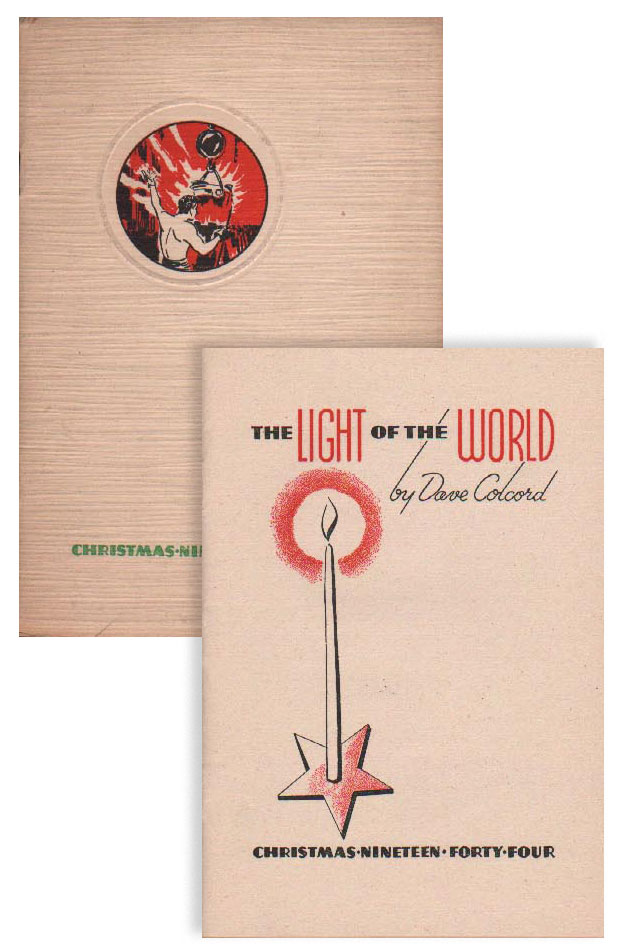 The Light of the World. Christmas Nineteen Forty-Four. Dave COLCORD.