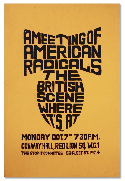A Meeting of American Radicals The British Scene Where It's At