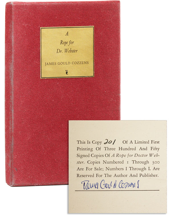 A Rope for Dr. Webster [Limited Edition, Signed]. James Gould COZZENS