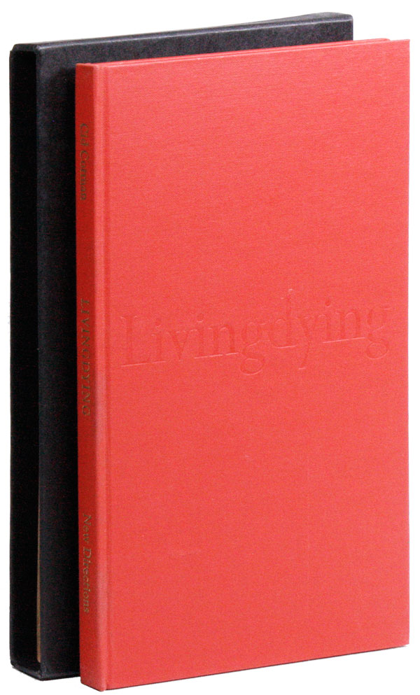 Livingdying: Poems [Limited Edition, Signed]. Cid CORMAN.