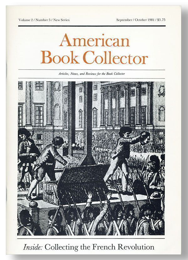 American Book Collector, Vol. 2, No. 5, New Series, September/October, 1981