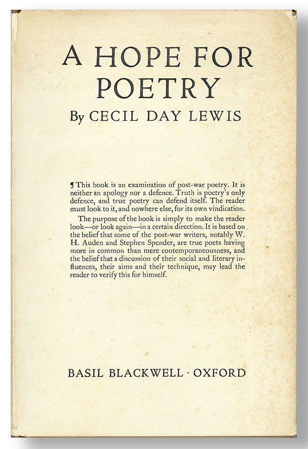 A Hope for Poetry. C. DAY LEWIS
