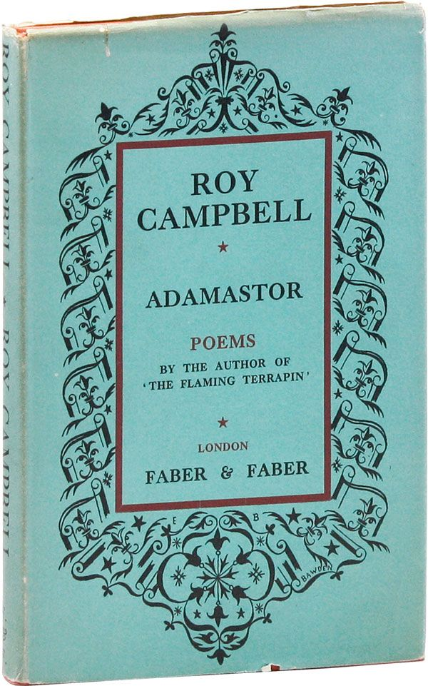 Adamastor: Poems. Roy CAMPBELL.