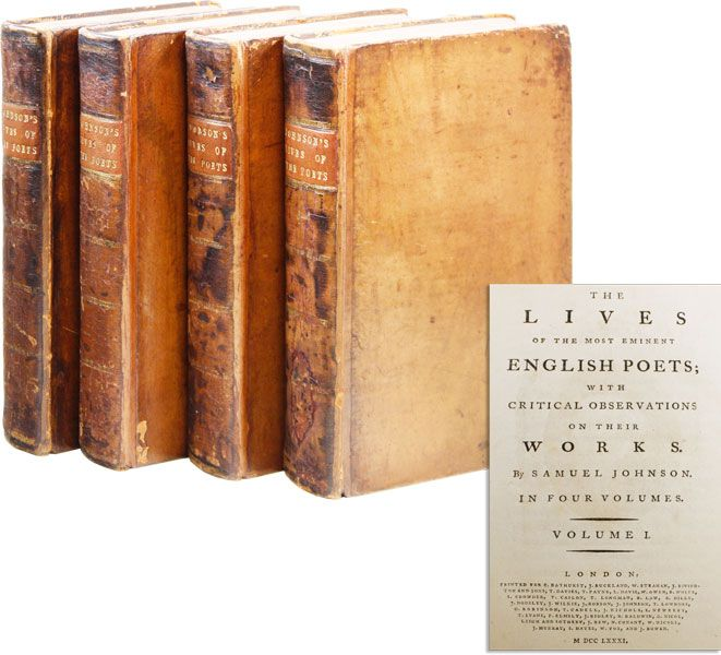 The Lives of the Most Eminent English Poets; with Critical Observations on their Works. Samuel...