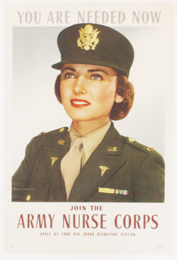 "Poster: ""You Are Needed Now - Join the Army Nurse Corps. Apply at your Red Cross Recruiting..."