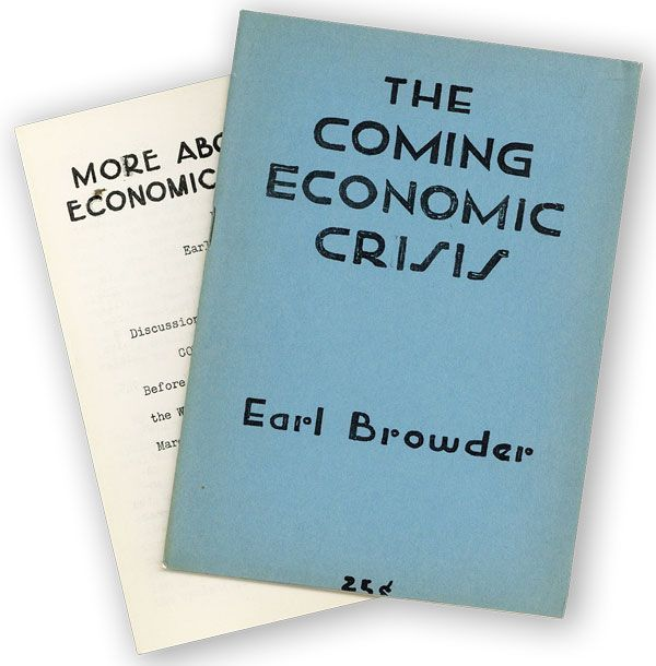The Coming Economic Crisis [...] A Lecture Delivered Before the Discussion Circle, at the...