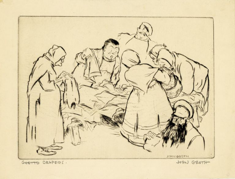 "Drypoint Etching: ""Ghetto Drapers"" John GROTH"