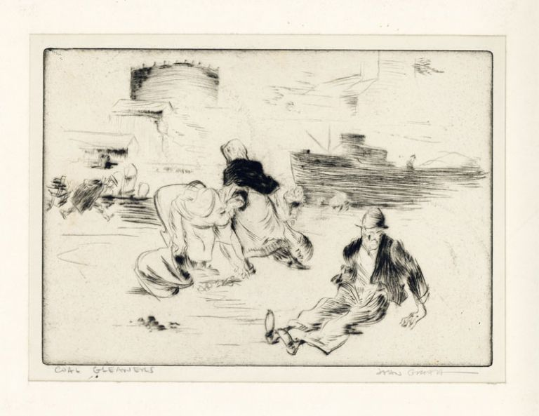 "Drypoint Etching: ""Coal Gleaners"" John GROTH"