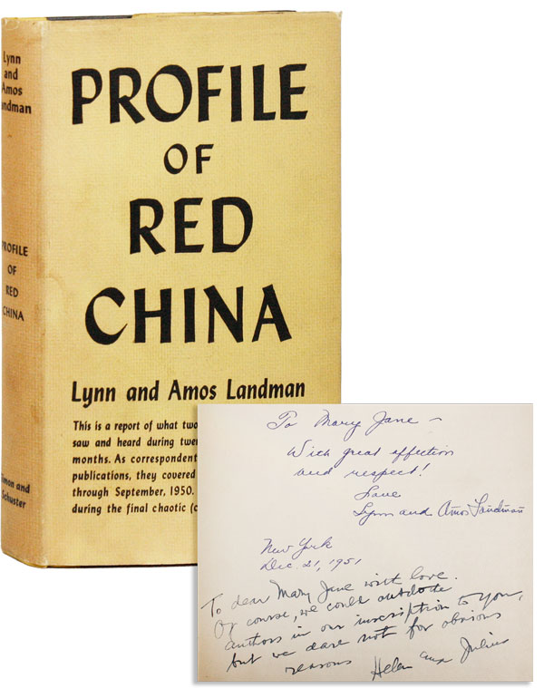 Profile of Red China [Inscribed & Signed]. Lynn and Amos LANDMAN