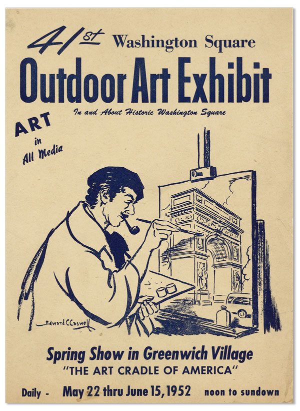 41st Washington Square Outdoor Art Exhibit In and About Historic Washington Square. Edward C. CASWELL, illus.
