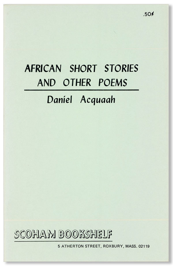 African Short Stories and Other Poems [cover title]. Daniel ACQUAAH