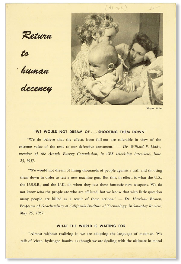 Return to Human Decency [drop title]. NEW ENGLAND REGION AMERICAN FRIENDS SERVICE COMMITTEE.