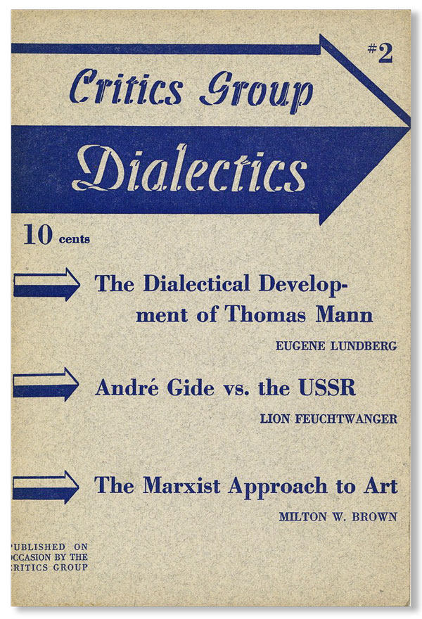 Dialectics No. 2. CRITICS GROUP.