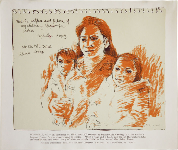 """For the welfare and future of my children, I fight for justice..."" AMERICA LATINA, Andrea..."