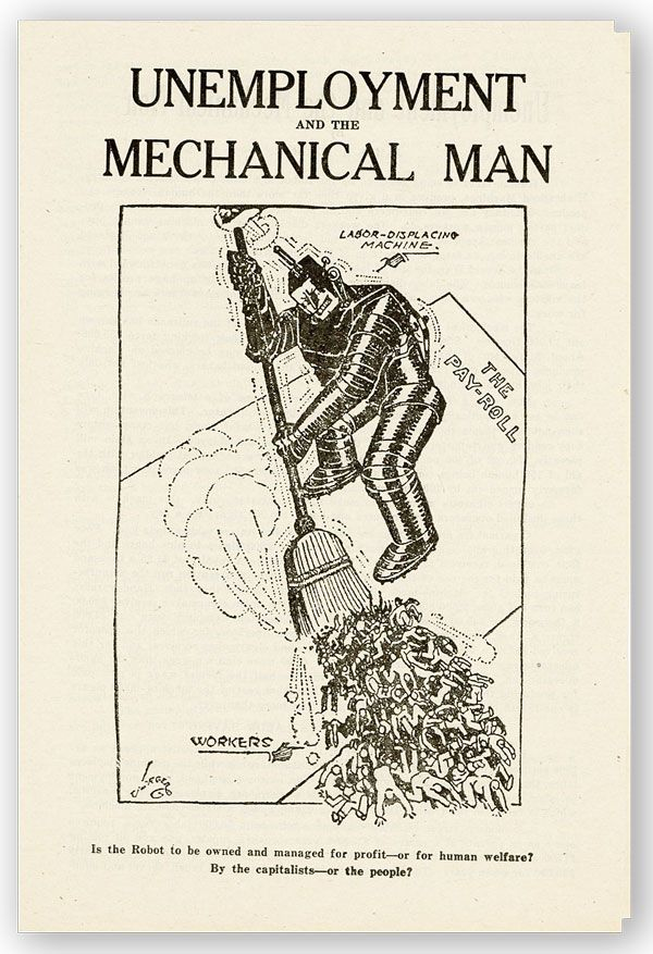 Unemployment and the Mechanical Man [drop title]. James H. MAURER