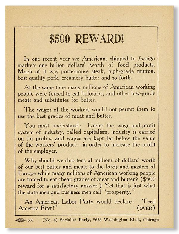 "Campaign Handbill: ""The Situation / $500 Reward"""