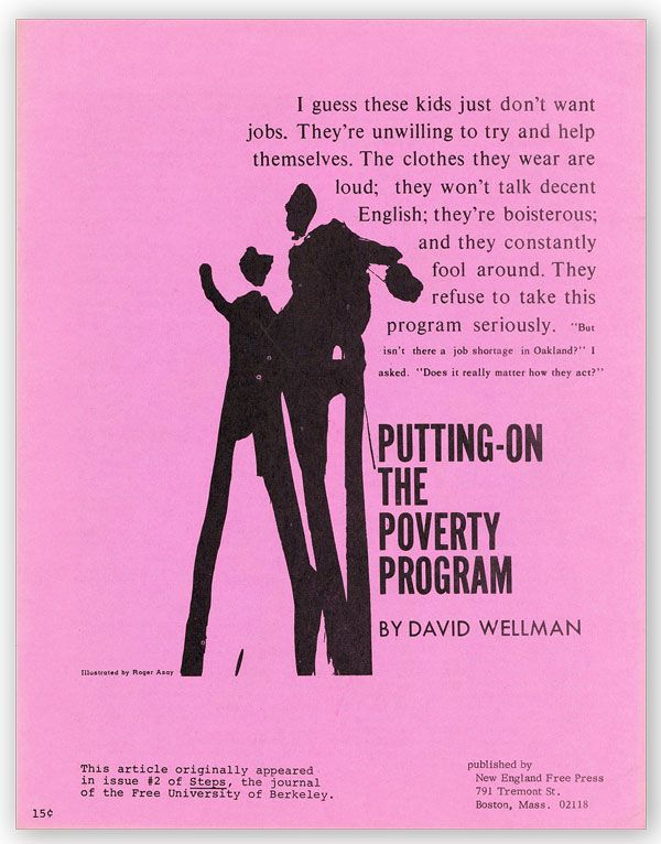 Putting-On the Poverty Program. David WELLMAN