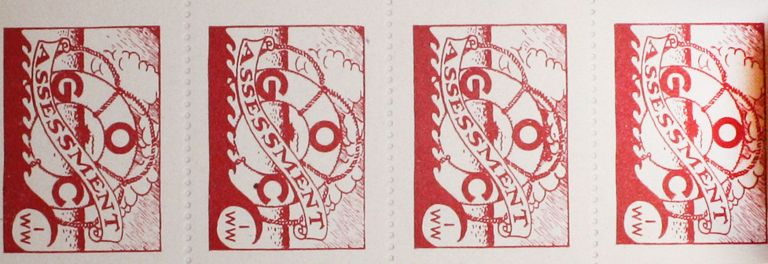 Complete Booklet of IWW Dues Stamps. IWW