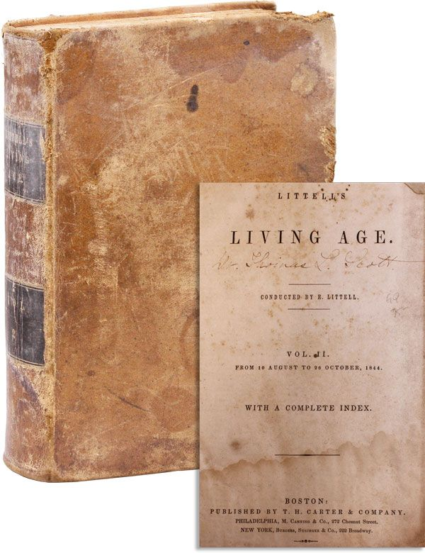 Littell's Living Age. Vol. II, from 10 August to 26 October, 1844. Eliakim LITTELL, ed.