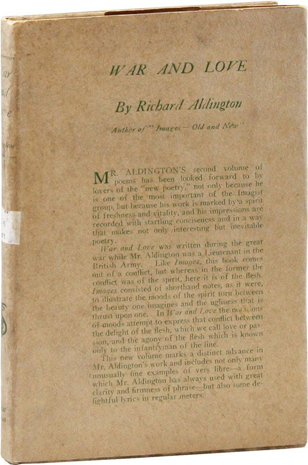 War and Love. Richard ALDINGTON.