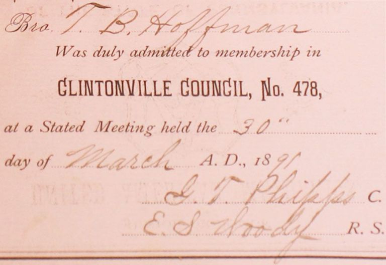 Constitution, By-Laws, and Rules of Order of Clintonville Council, No. 478, Junior Order of...