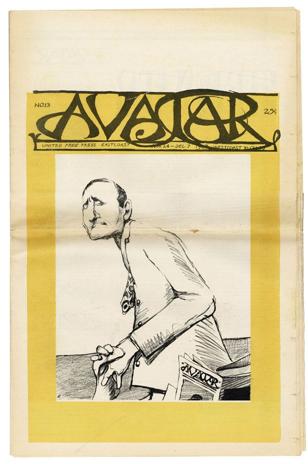 "Avatar no. 13 [The ""Obscene"" Issue]. Eben GIVEN, Brian KEATING, Mel Lyman, eds"
