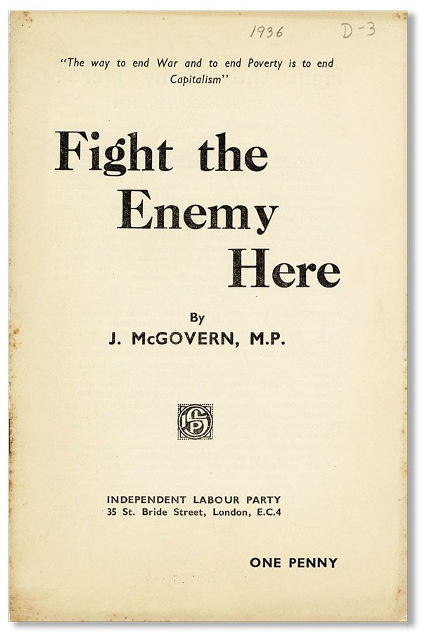 Fight the Enemy Here! [drop title]. J. McGOVERN
