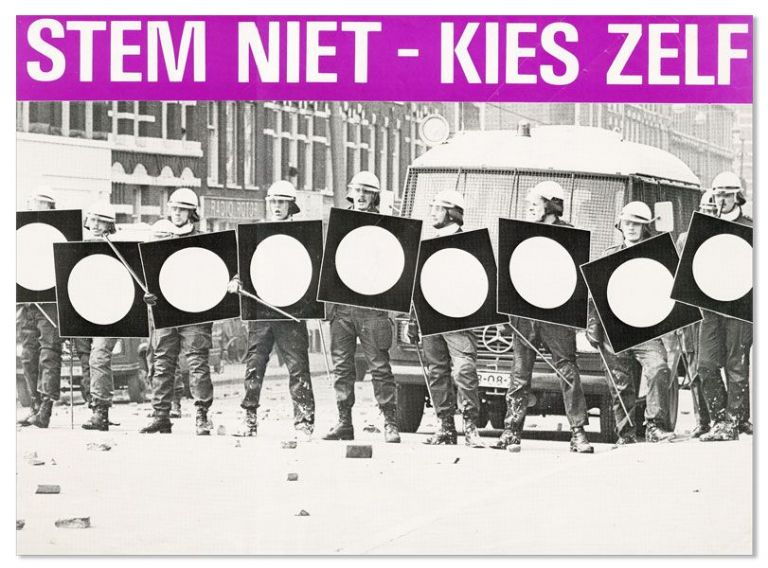 Poster: Stem Niet -- Kies Zelf [Don't Vote, Make Your Own Choices]. ANTI-PARLIAMENTARISM