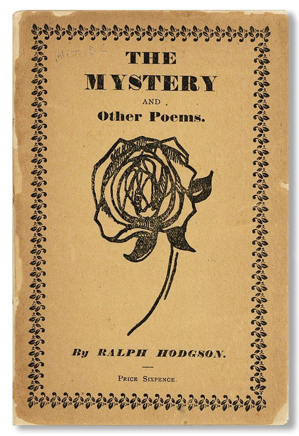 The Mystery and Other Poems. Ralph HODGSON