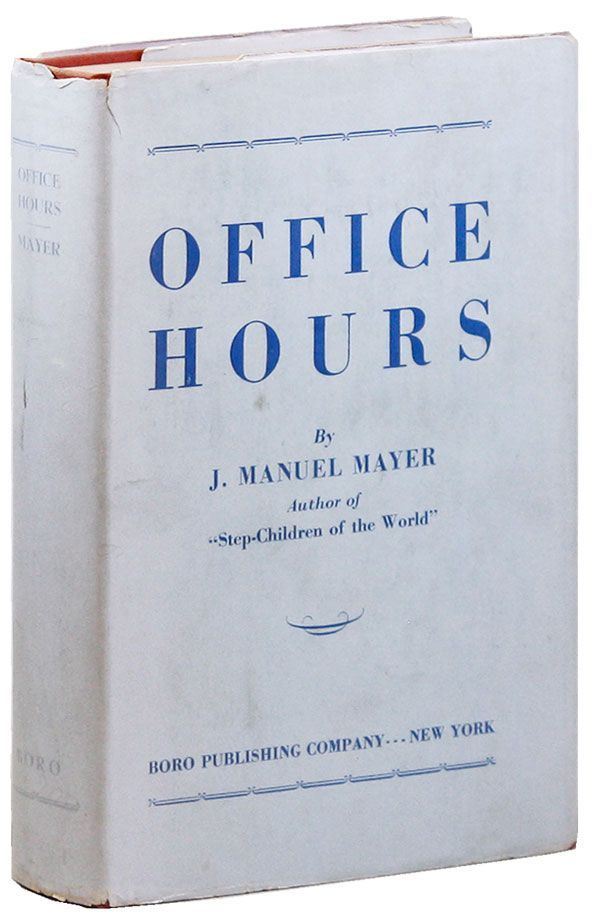 Office Hours. J. Manuel MAYER
