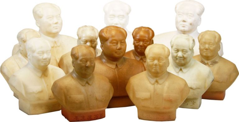 Collection of 12 Rubber Busts of Fearless Leader Chairman Mao. MAO TSE-TUNG