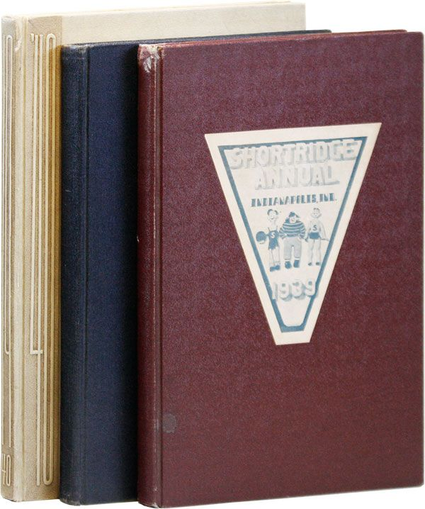 Shortridge Annual - Collection of Three Volumes, 1938, 1939, & 1940 [Signed Bookplates Laid in