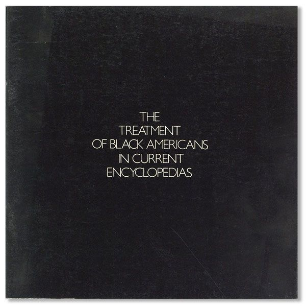 The Treatment of Black Americans in Current Encyclopedias. Irving SLOAN, Robert Osborn