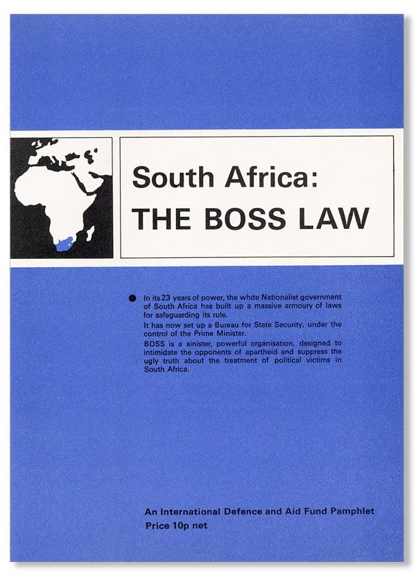 South Africa: The Boss Law. SOUTH AFRICA, APARTHEID.