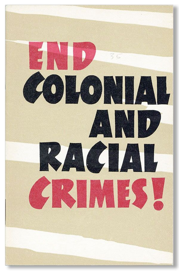 End Colonial and Racial Crimes! V. MAZOV