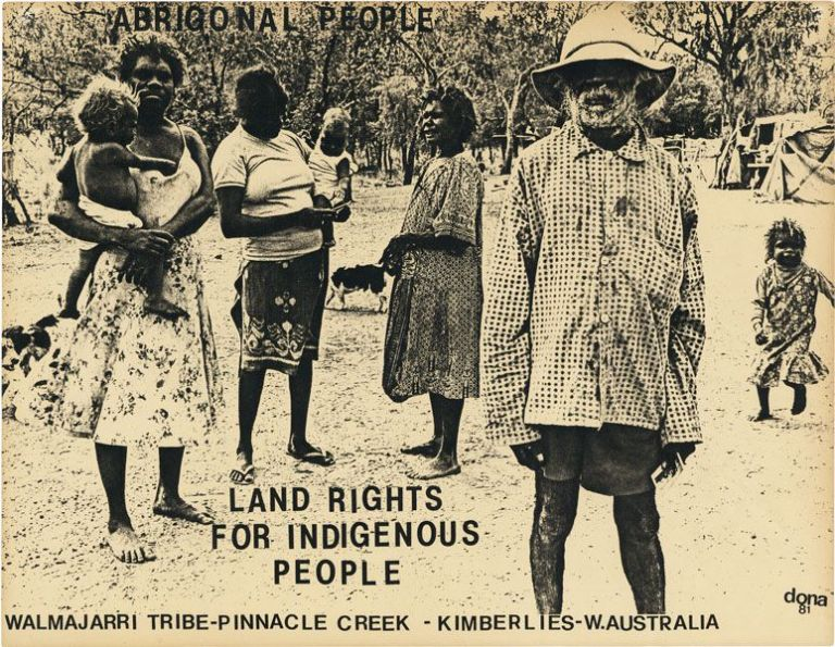 "Broadside: ""Aboriginal People - Land Rights For Indigenous People"" INDIGENOUS RIGHTS - AUSTRALIA,..."