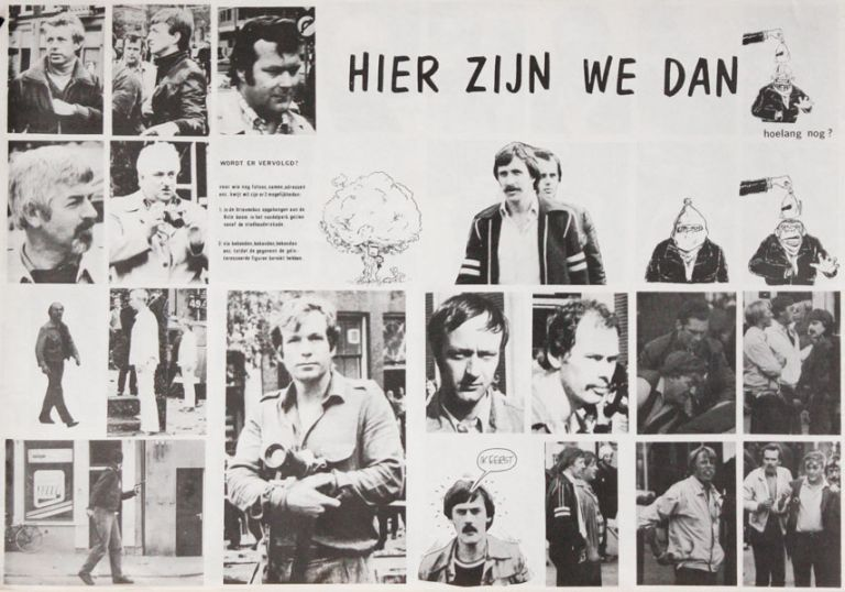 Poster] Hier Zijn We Dan. Hoelang Nog? [Here We Are. But for How Long?]. SQUATTERS MOVEMENT -...