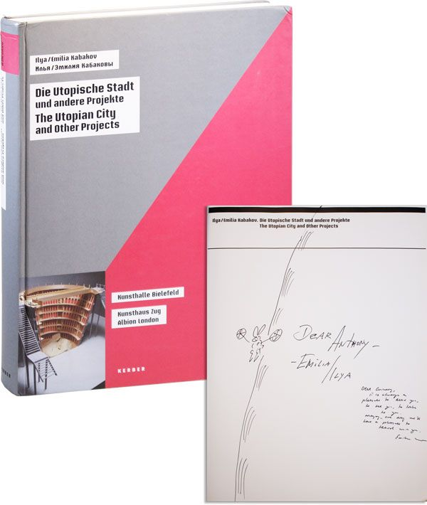 Die Utopische Stadt und andere Projekte / The Utopian City and Other Projects [Inscribed, with Original Drawing]