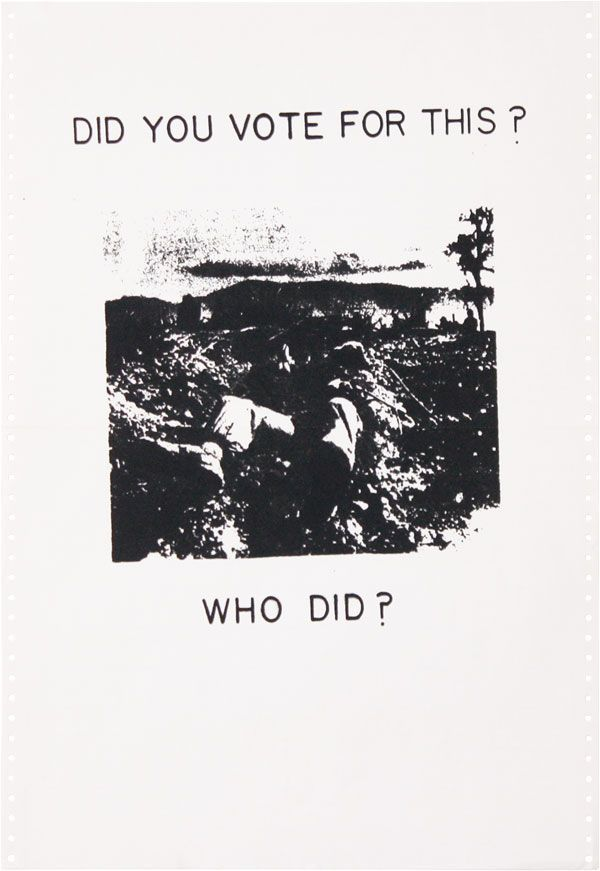 Poster: Did You Vote For This? Who Did? GRAPHICS, VIETNAM WAR.