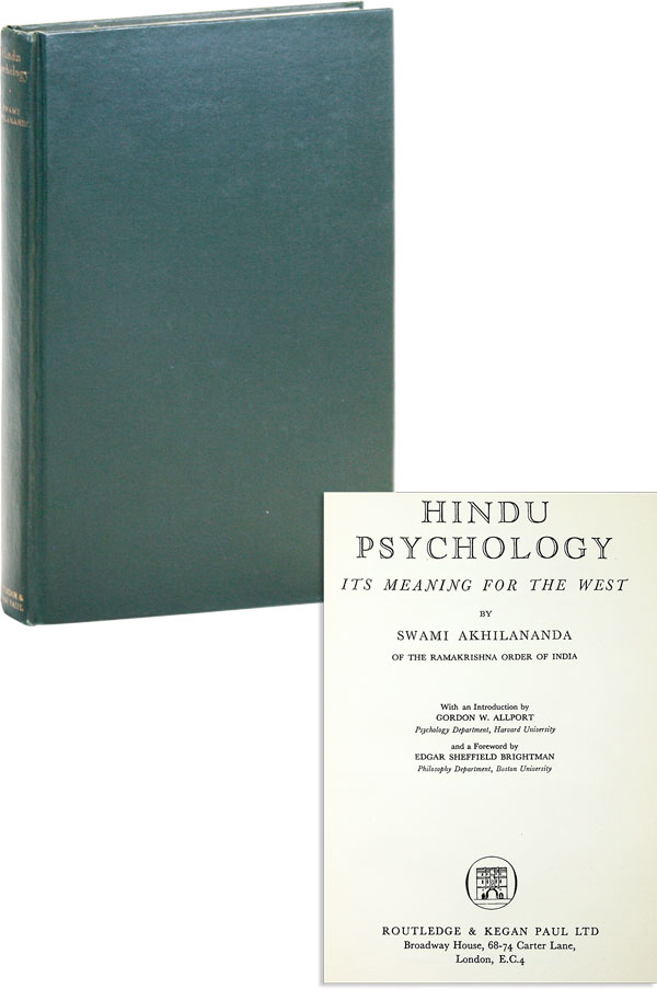 Hindu Psychology. Its Meaning For The West. Swami Akhilananda