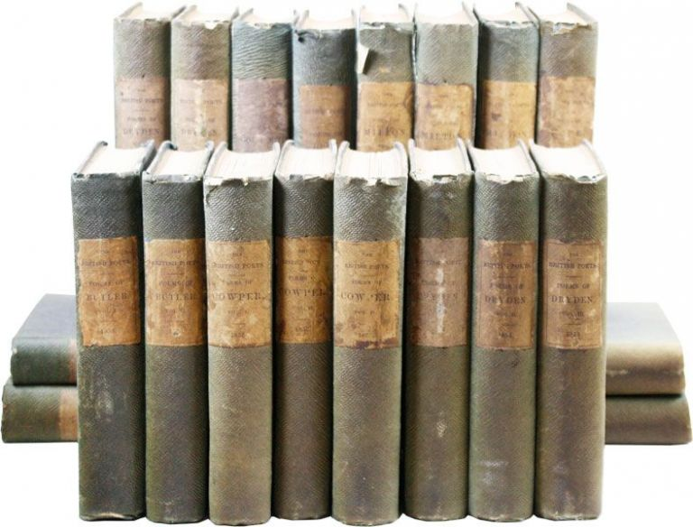 Collection of Twenty Volumes from the British Poets Series [from the library of Thomas Jefferson...
