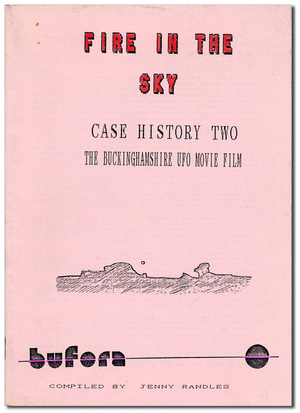 Fire in the Sky: Case History Two, the Buckingham UFO Movie Film. Jenny RANDLES