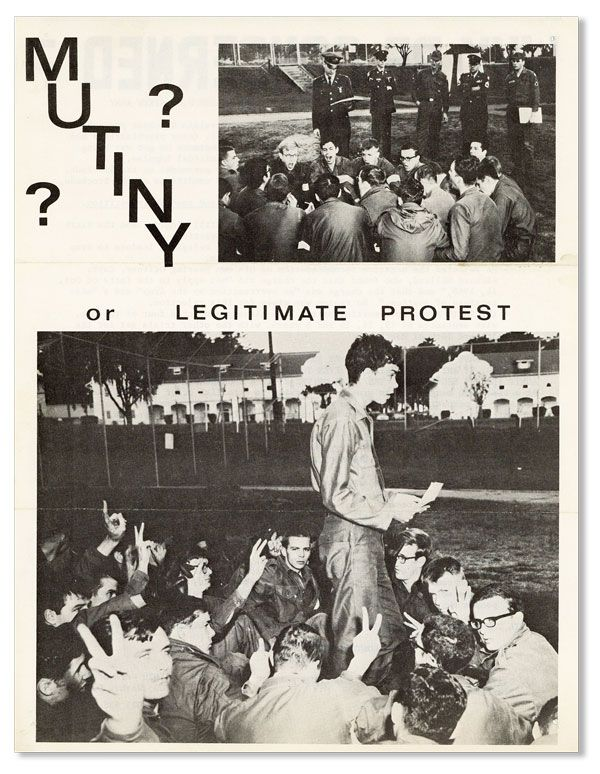 Mutiny? Or Legitimate Protest [...]. VIETNAM PROTEST - PRESIDIO MUTINY, COMMITTEE FOR THE 27.