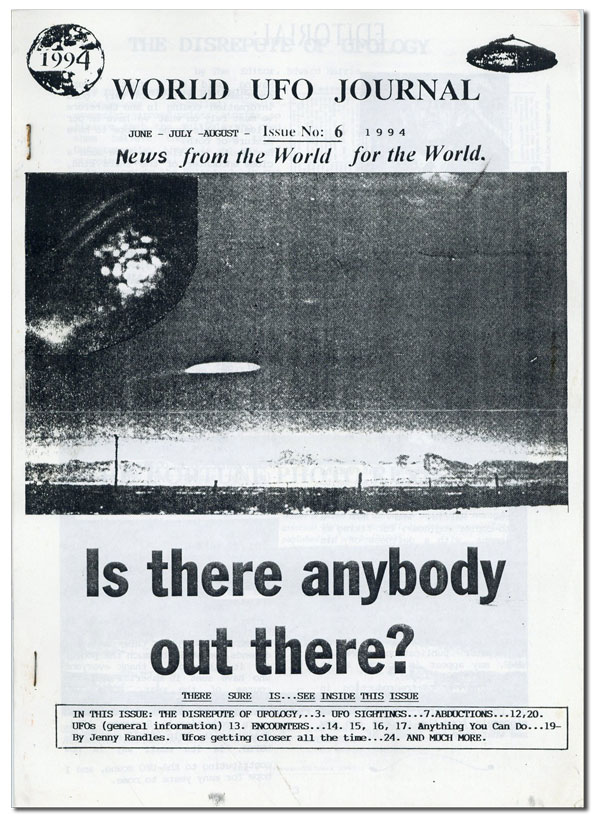 World UFO Journal Issue no. 6, June-July-August, 1994. COSMOLOGY NEWS