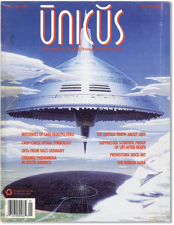 Unicus: The Magazine for Earthbound Extraterrestrials, Vol. 3, no. 1. Robert M. STANLEY, ed
