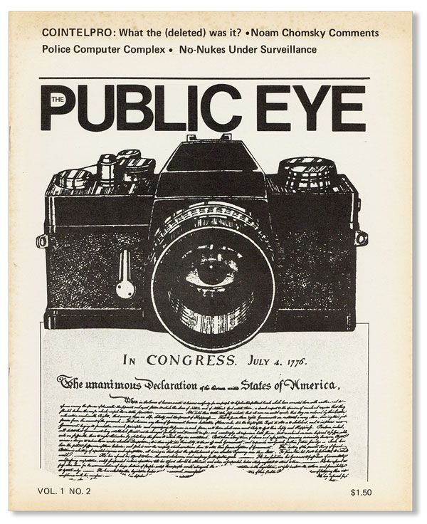 The Public Eye. A Journal of Social and Political Issues. Vol 1 no 2 (April 1978). Harvey KAHN,...