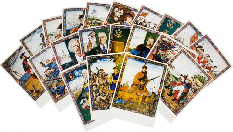 "Complete Set of Twenty World's Fair Souvenir Postcards from the Exhibition ""The Glorious Days of..."